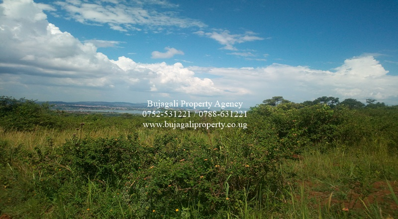 LAKE VIEW LAND AT A HILL TOP IN NJERU BUIKWE