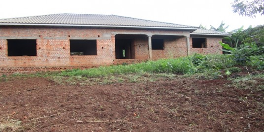 SHELL HOUSE FOR SALE ON HALF ACRE PLOT AT JINJA OUTSKIRT